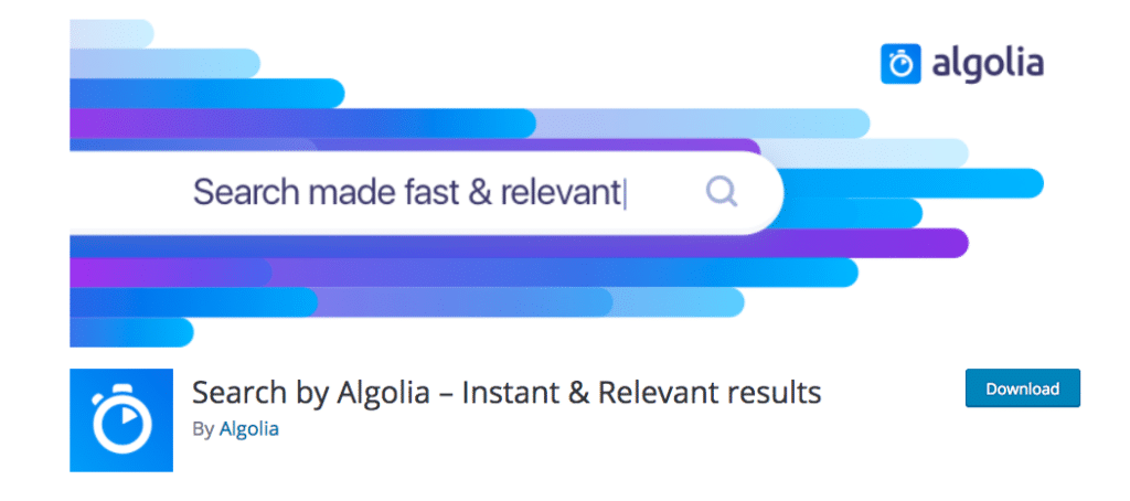 Search by Algolia – Instant & Relevant results